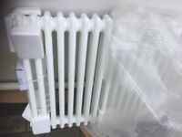 Brand New White Traditional horizontal 17 x 2 column steel Radiator 670mm x 845mm Perfect £170 ono