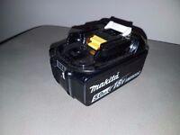 MAKITA 18v LXT LI-ION BL1850b (5AH) (BATTERY GAUGE) battery,(NEAR NEW)