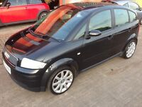 2004 Audi A2 1.4 TDi Sport Black Full History Alloys Air Con CD 5 door 5 Speed 60+mpg HPiClear £1895