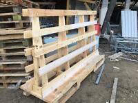 Timber stillages and large pallets to give away