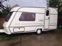 1998 ABI Daystar 2 Berth Caravan & extras including awning, water & waste carrier and hook up cable