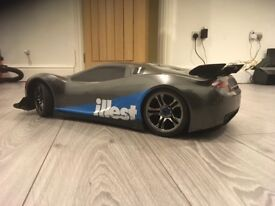 Traxxas XO-1 used electric rc supercar 100mph 3s lipo battries and charger