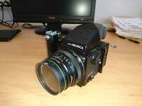 Bronica ETRS Medium Format Film Camera - inc 75mm lens, Speed finder, speed grip and aluminum case