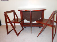 Dropleaf Folding Dining Table & 2 Chairs