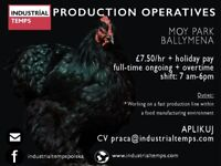 Production Operatives required IMMEDIATE START