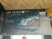 LG Wallpaper OLED65W7V SIGNATURE OLED HDR 4K Ultra HD Smart TV, 65