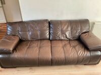 2 Leather Sofas (Good Condition)