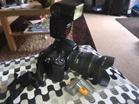 Nikon D700 with Lens and Flashgun