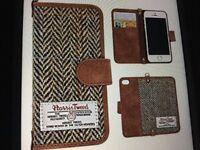 Iphone 7/8 Plus Flip Leather Wallet Case Genuine ( Harris Tweed) new in box.