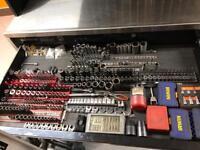 Mechanics tools job lot spanners, sockets, some snap on & mac
