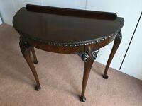 Queen Anne Style Mahogany Semi-circular table