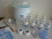 AVENT EXPRESS ELECTRIC STEAM STERILISER AND ACCESSORIES
