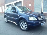 Mercedes-Benz M Class 2000 2.7 ML270 CDI SUV 5 door AUTOMATIC, SERVICE HISTORY, HUGE SPEC, LEATHER