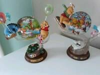 Winnie the pooh summer and winter ornaments