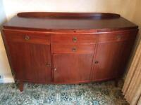 Mahogany Sideboard/cupboard/drinks cabinet 50's/60s shabby project??