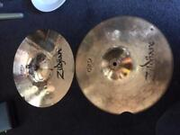 Zildjian 14inch hi hat cymbals