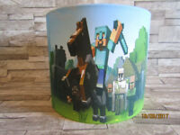 MINECRAFT LAMPSHADE BRAND NEW HAND MADE TO ORDER