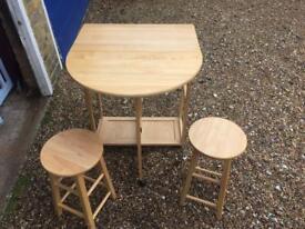 Breakfast bar sideboard small table
