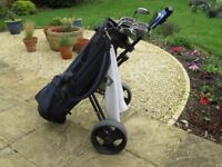 Ladies Golf Clubs - Full Set + Bag + Golf King Folding Trolley