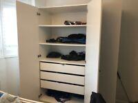 Triple Pax Ikea Wardrobe (white)
