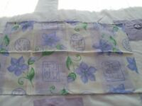 double devet sets cream and lime with matching curtains and bottom sheets