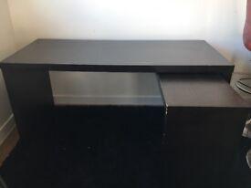 Ikea adjustable desk - black