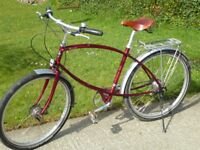 Pashley Paramount gents bike. 5 speed hub gears and hub brakes, puncture proof tyres.