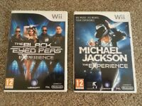 Wii Black Eyed Peas Experience & Michael Jackson The Experience Games