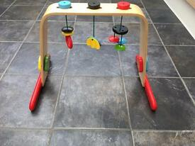 Ikea wooden baby gym