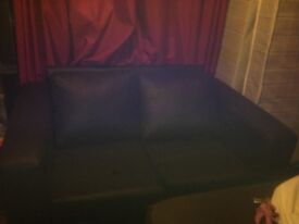 Leather like brown 2 seater chair almost brand new!!!