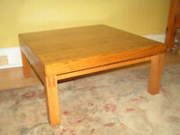 Coffee table - stylish, pine 1990's design. REDUCED PRICE