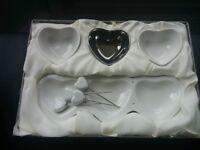 Heart-shaped appetizer set