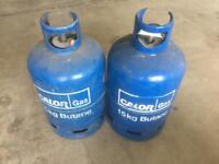 2 x 15kg Butane Calor Gas bottle , 1 is Full 1 is empty
