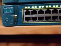 CISCO SWITCH 3550 , 24 PORT, AMBER LIGHT , FAULTY