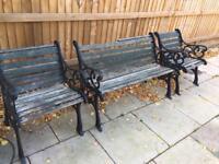 Cast iron garden chairs - Bargain Price