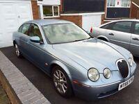 Jaguar S-Type, 2005, Blue, 2.7tdi V6 Diesel, 136k Low Miles, Automatic, Service History, Luxury Car.