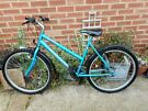 ladies blue 19 inch frame blue concept bike with lock