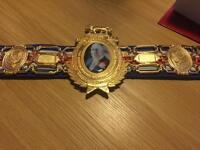 Sold metal boxing belt