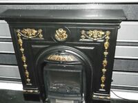Replica Cast Iron Look Fireplace.