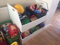 Large open toy storage unit