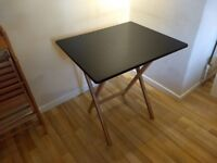 2 seat folding table. Bamboo and black lacquer. HABITAT - DREW. Good condition