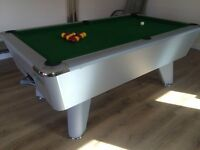 FABULOUS PREFESSIONAL SUPREME WHITE POOL TABLE- IMMACULATE 6FT X 3FT £600