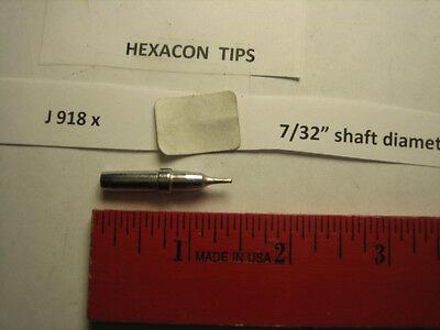 Hexacon J 918x Soldering Tip 732 Diameter Fits Weller Wes 51
