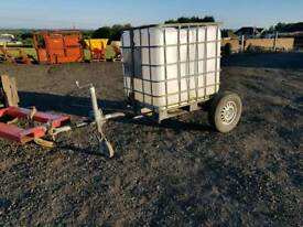 1000 litre water bowser tank with trailer livestock tractor farm