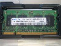 Laptop memory 2Rx16 PC2 512MB x 2