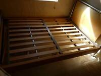 Double Bed Frame Metal & Wood