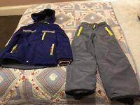 Boys boden ski jacket and salopettes