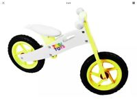 Kids wooden balance bikes new boxed