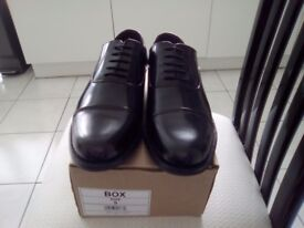 New Black Leather Shoes Size 9