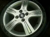 Ford alloy wheel with tyre